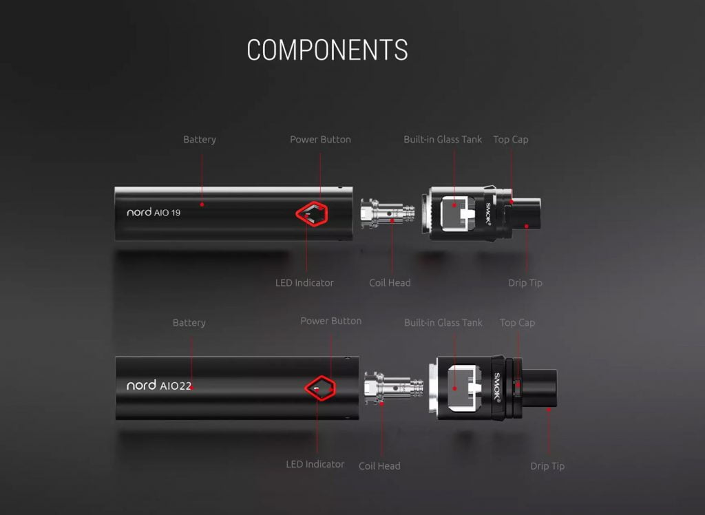 Nord AIO 19 an 22 Kit - Components - Smok
